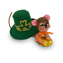Annalee Dolls 3in 2018 Irish Found Gold Mouse Plush New with Tags - $10.46