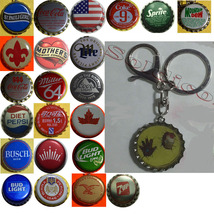 Iron Man Coke Sprite Diet pepsi & more Soda beer cap Keychain