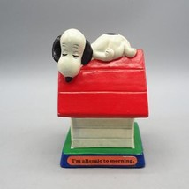 """Vintage Peanuts Snoopy Dog House """"I'm Allergic To Morning"""" United Syndicate 1971 - $14.84"""