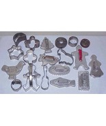 VINTAGE COOKIE CUTTERS - Large Lot of 19 all Metal - $19.99