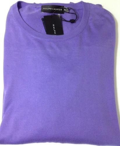 Ralph Lauren Herren Baumwollpullover Farbe violett. schwarze Beschriftung