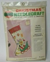 "Vtg NIP Bucilla Christmas Needlecraft Jeweled Stocking Santa Jumbo Size 21"" 8608 - $49.50"