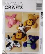 McCall's Crafts 666 Fuzzy Friends Animal Pillow Shams Dinosaur Dalmatian - $11.00