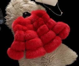 Women Winter fashion Designer Thick Faux Mink Coat image 4
