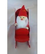 Avon Frolicking Santa on Metal Sleigh ornament Christmas Collectible dec... - $2.99