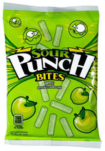 5oz Bag (12 Pack) Sour Punch Bites, Sour Apple Fruit Flavored Soft and C... - $23.99