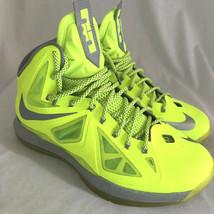 Nike Lebron 10 X Volt Dunkman Basketball Shoes, Men's Size 11 - $85.49