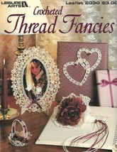 Crocheted Thread Fancies Leisure Arts 2030 1991 Ornaments Picture Frames & More - $7.83