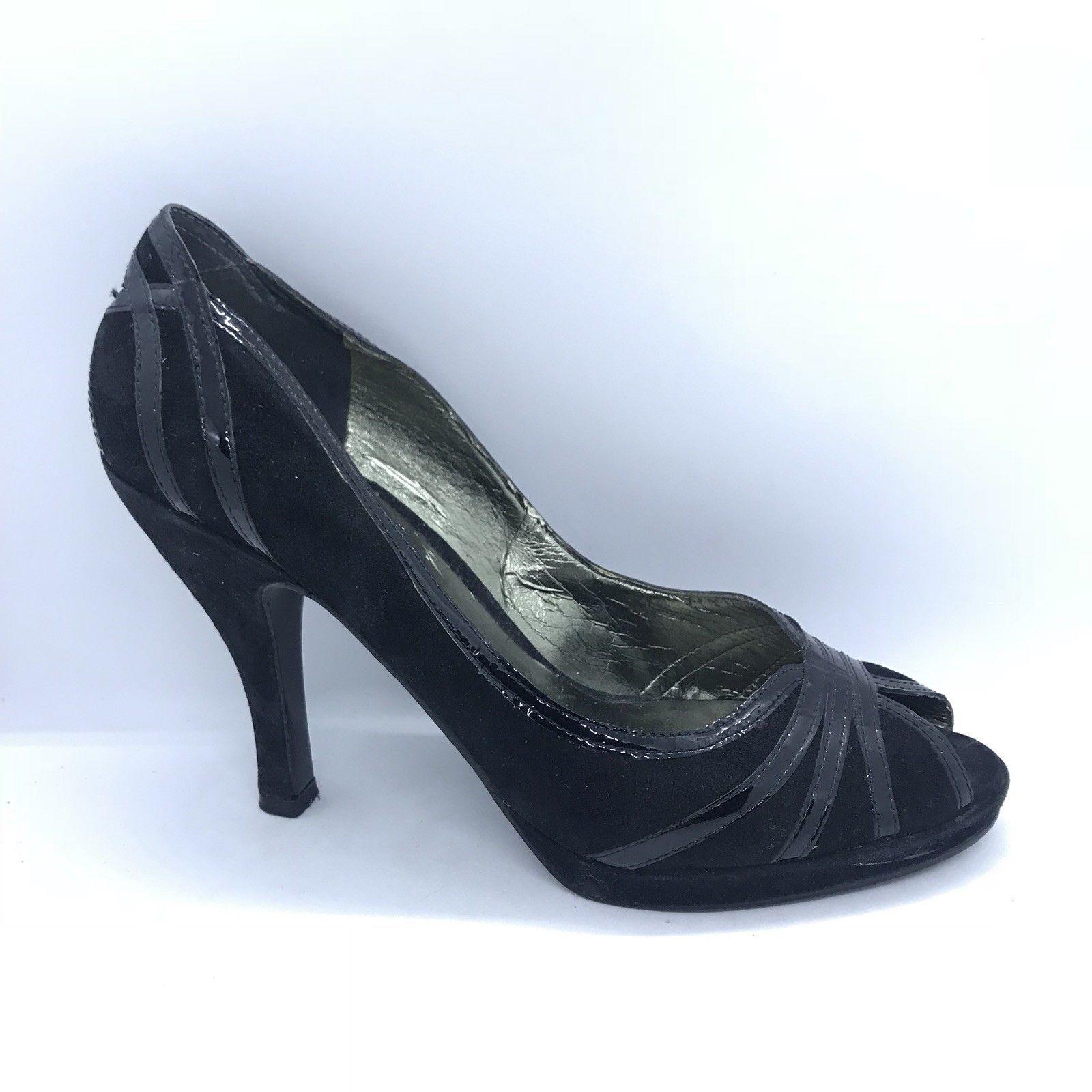 2336e18c21 Enzo Angiolini Peep Toe Heels Women Size 7.5 Black Shoes - $35.00