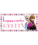 Frozen Easter Basket Sticker, Waterproof and Personalized, Elsa and Anna... - $3.25+