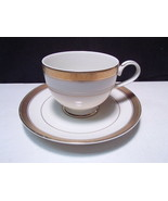 Mikasa PALATIAL GOLD Cup & Saucer Encrusted Band Trim Set - $7.99