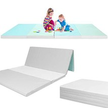 Folding - Reversible - Non-Slip Waterproof Baby and Toddler Activity Play Mat Gy