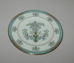 Bread Plate Lenox Blue Tree Gold Trim & Backstamp Made in USA - $9.85