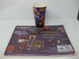 Vintage McDonald's 2000 Britney Spears NSYNC Unused Cup Promo & Tray Liner - $39.59
