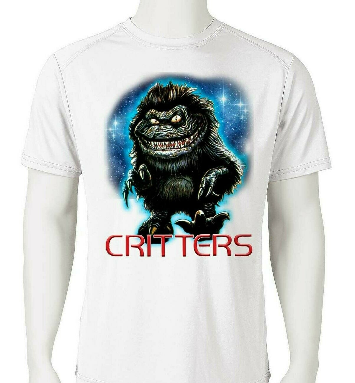 Critters Dri Fit graphic T-shirt moisture wicking retro 80s movie SPF tee