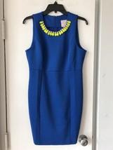 New Romeo & Juliet Blue Sleeveless Dress / Crystal Bib Collar SZ M $185 - $33.94