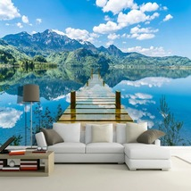 """3D Wallpaper """"Blue Sky and Lake""""  - $35.00+"""