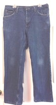 Lee Relaxed Jeans Straight Leg Medium Wash 5 Pocket Dungarees 38 x 30 Bl... - $11.83
