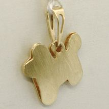 18K YELLOW GOLD DOG PENDANT, CHARMS, DOUBLE LEVEL & FINELY WORKED, MADE IN ITALY image 4