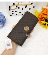 NWT Michael Kors Fulton Flap Large Wallet Brown *FREE SHIPPING* - $68.00