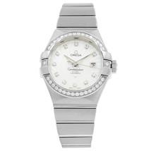 Omega Constellation Silver Diamond White Gold Ladies Watch 123.55.31.20.... - $19,999.00