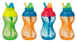Munchkin 4 Pack Mighty Grip Flip Straw Cups, 9 Ounce Discontinued by Man... - $18.10