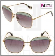 MIU MIU NOIR 53Q Square Gold Opal Green Gradient Sunglasses MU53QS - $216.81