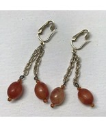 Vintage Sarah Coventry 1968 TORTOISE FASHION Collection Gold Dangle Earr... - $12.87