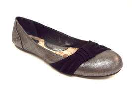 BORN Size 11 Silver Pewter Round Toe Ballet Flats Shoes - $45.00