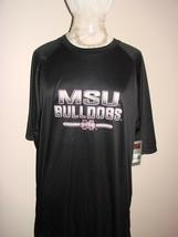 New Msu Bulldogs Champion (Chafk) Ncaa Men's Short Sleeve Crew Neck Ra Tee Large - $13.51