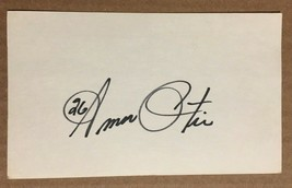AMOS OTIS KANSAS CITY ROYALS AUTOGRAPHED SIGNED AUTO INDEX CARD / 1 Owner  - $5.99