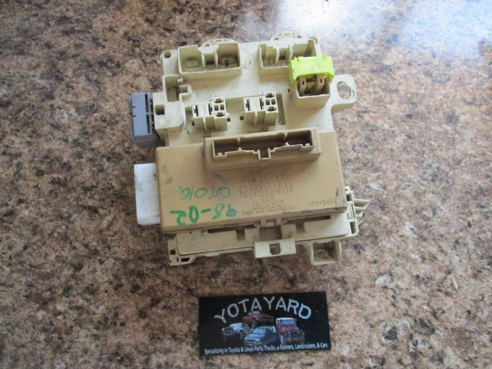 98-02 Toyota Corolla Interior Fuse Box and 50 similar items. S l1600