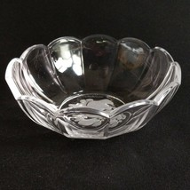 "1 (One) Val St Lambert Brussels Intaglio Crystal 6"" Bowl DISCONTINUED-Signed - $38.60"