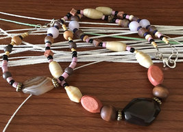 Agate Boho Beaded Necklace Set - $15.00