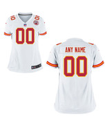Customized Women's Kansas City Chiefs Jersey White Stitched Football Jersey - $38.99