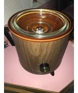 rival crock pot brown wood - $39.19