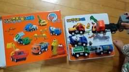Larva Pull Back Heavy Machinery Equipment Toy Car Vehicle 6 Pieces Set image 3