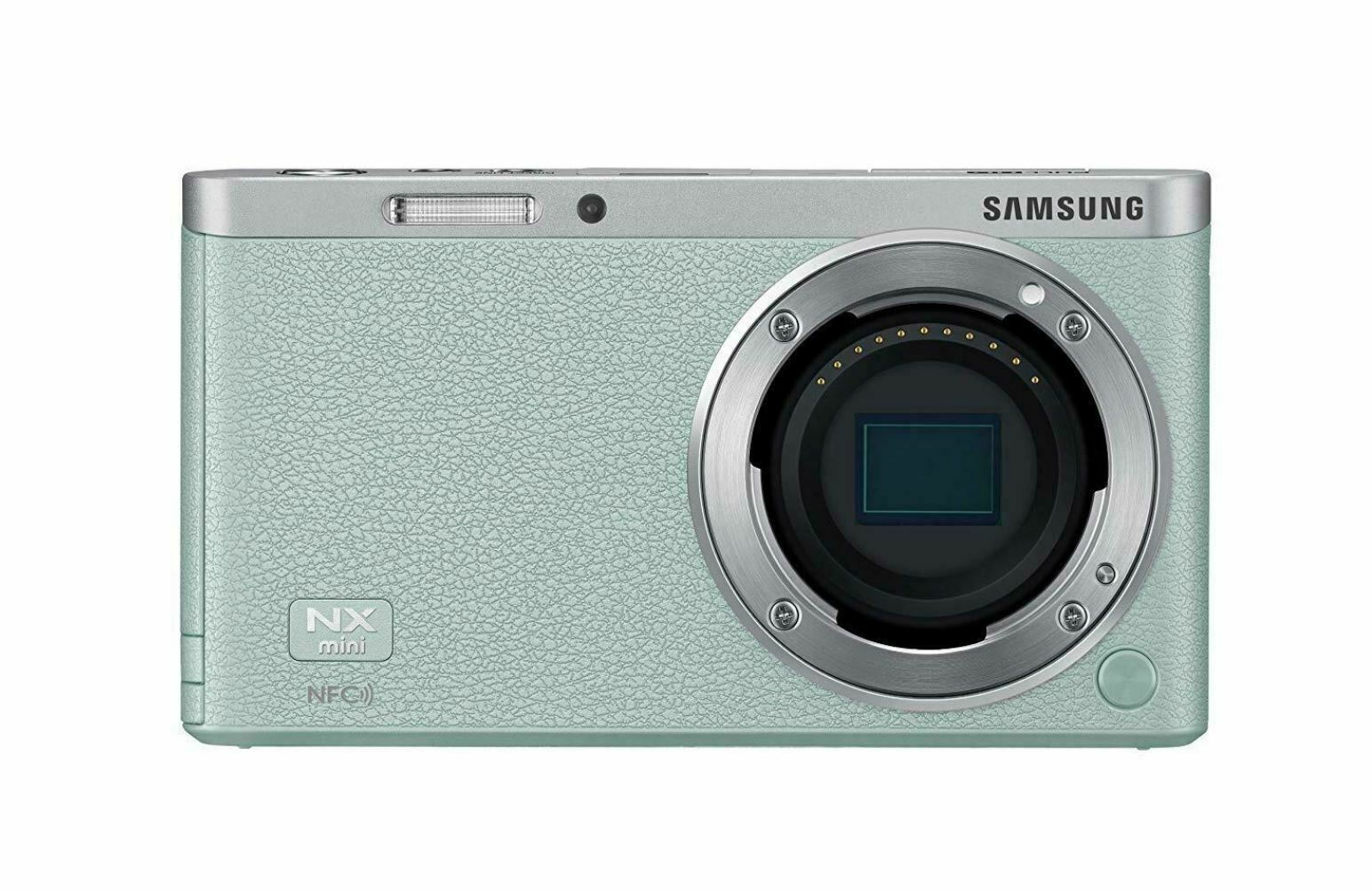 Samsung SMART CAMERA NX Mini Body only Mint /20.5MP W-iFi NFC NO BATTERYPin