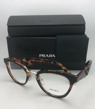 New PRADA RX-able Eyeglasses VPR 26S VHA-1O1 51-21 Tortoise-Gold w/Black Leather