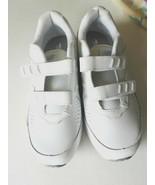 SHOES NEW BALANCE Women's WW411HW2 White Leather Hook/Loop Walking Sz 8.... - $64.99