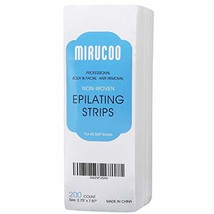 Mirucoo 200 Pieces Large Non-woven Wax Strips for Body and Facial Hair Removal,