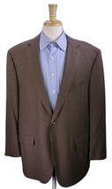 ERMENEGILDO ZEGNA Current Model Brown Woven Wool-Silk 2-Btn Sportcoat 48R - $133.00