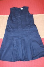 Children's Place Size 14 Girls Navy Blue Drop Waist School Uniform Jumpe... - $9.49