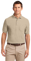 Port Authority TLK500P Tall Men's Silk Polo Shirt - Stone - $17.98+