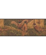 Pheasant in The Yard Village OA8103B Wallpaper Border - $15.35