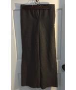 H&M flare wool blend pants, size 4 Gray Herringbone - $13.10