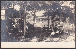 Oakland Park Pre-1907 RPPC Festive Outdoor Scene Photo Postcard California? - $19.75