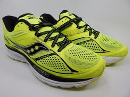 Saucony Guide 10 Men's Running Shoes Sz US 9 M (D) EU 42.5 Citron Black S20350-3