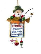 KURT S. ADLER HAND PAINTED RESIN FISHERMAN'S CREED FISHING PLAQUE XMAS O... - $12.88