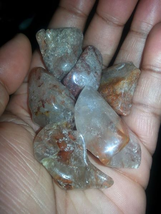 Medium amphibole quartz tumbles - $5.00